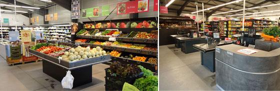 Approvisionnement de supermarchés en produits alimentaires,épicerie, alcools, produits frais, produits surgelés